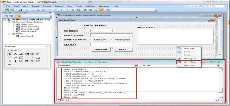 Tampilkan Data di ListBox di UserForm VBA Excel