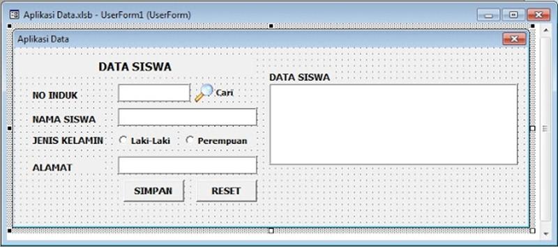 Perintah Cari otomatis VBA Excel Melalui TextBox