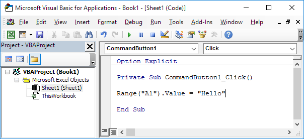 Editor Visual Basic