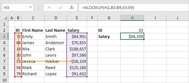 Fungsi XLOOKUP di Excel
